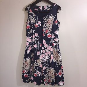 Talbots sleeveless floral dress. Size 10P